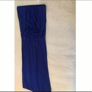 Maxi cover up! Comfy, bold, sheer blue fabric